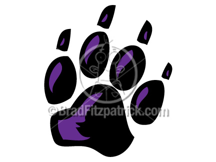 Wildcat clipart panther paw Clip Paw Black Paw Panther