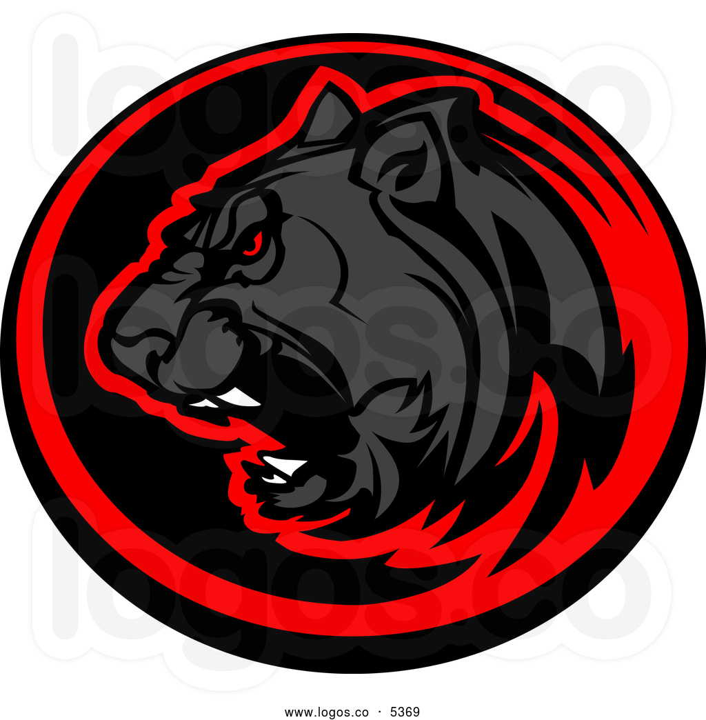 Red clipart panther #14