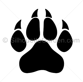 Paw clipart silhouette Svg Black svg Panther drawings