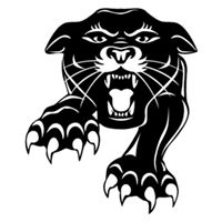 Panther clipart stencil Black Images panther Search
