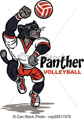Panther clipart volleyball Art CLIPART DESIGNS volleyball clip