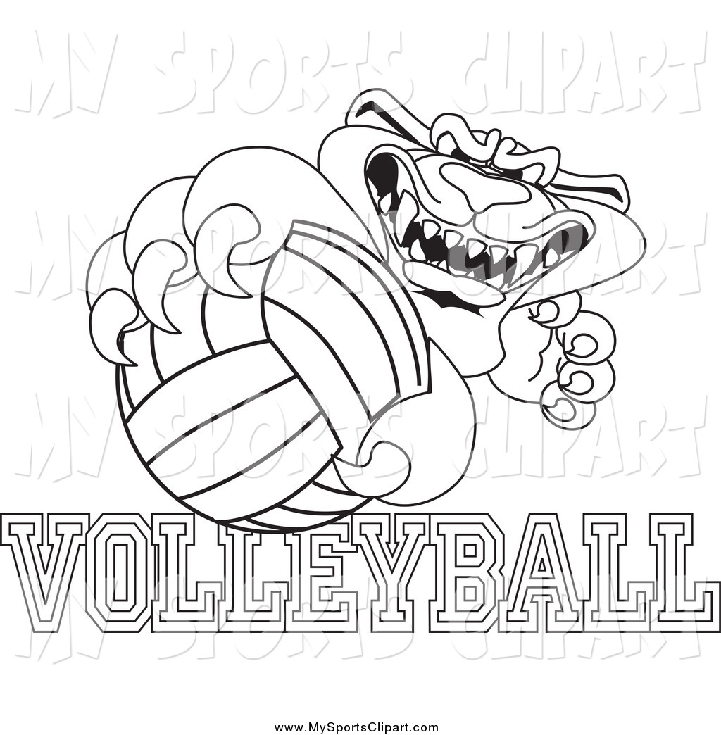 Panther clipart volleyball With Art of Art Character