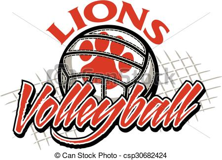 Panther clipart volleyball Volleyball volleyball team Vector lions