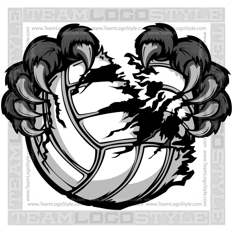 Panther clipart volleyball Art Claws Volleyball Clip