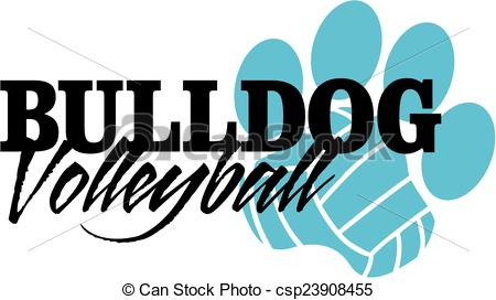 Panther clipart volleyball Paw volleyball with Clipart bulldog
