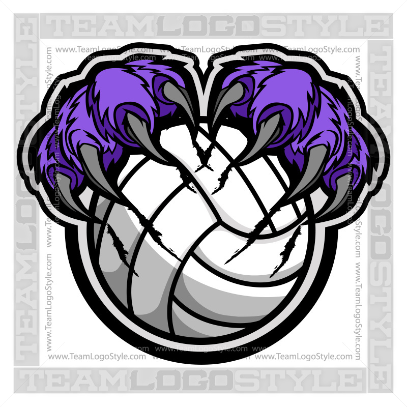 Panther clipart volleyball Claws Volleyball Panther  Vector