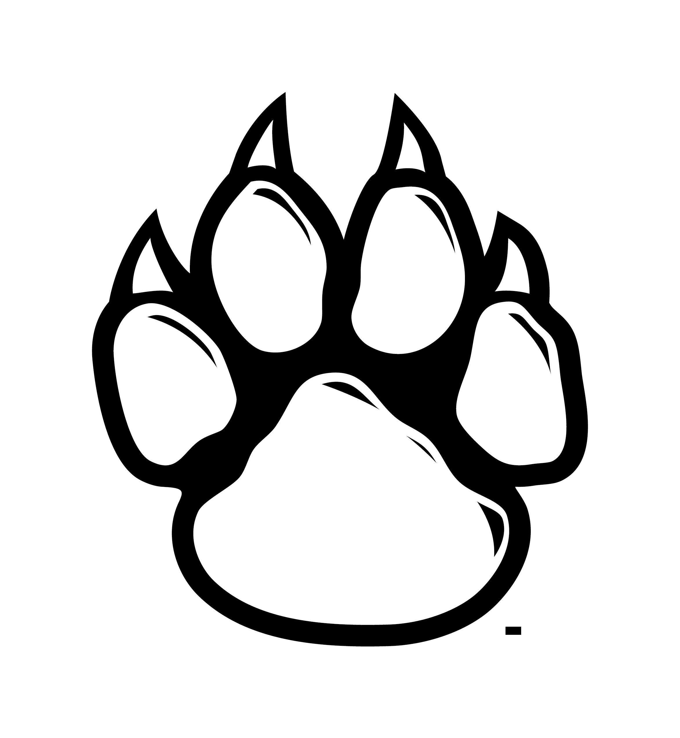 Wildcat clipart jersey  art wolf line print