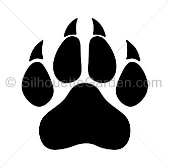 Wildcat clipart panther paw The print ideas in art
