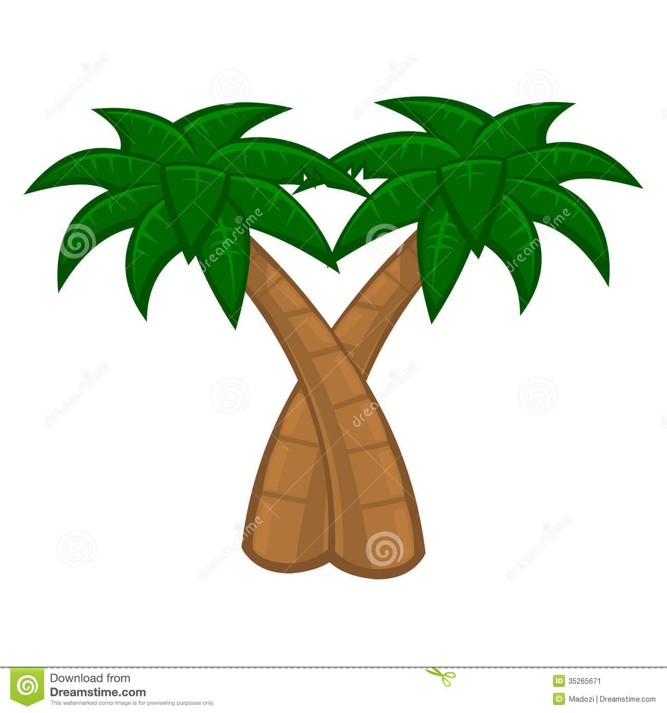 Trunk clipart coconut tree #3