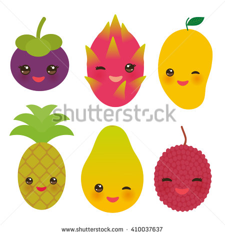 Papaya clipart funny  exotic pineapple cute fruit