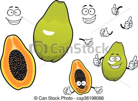 Papaya clipart papaya fruit Csp36198088 Mexican Mexican  fruit
