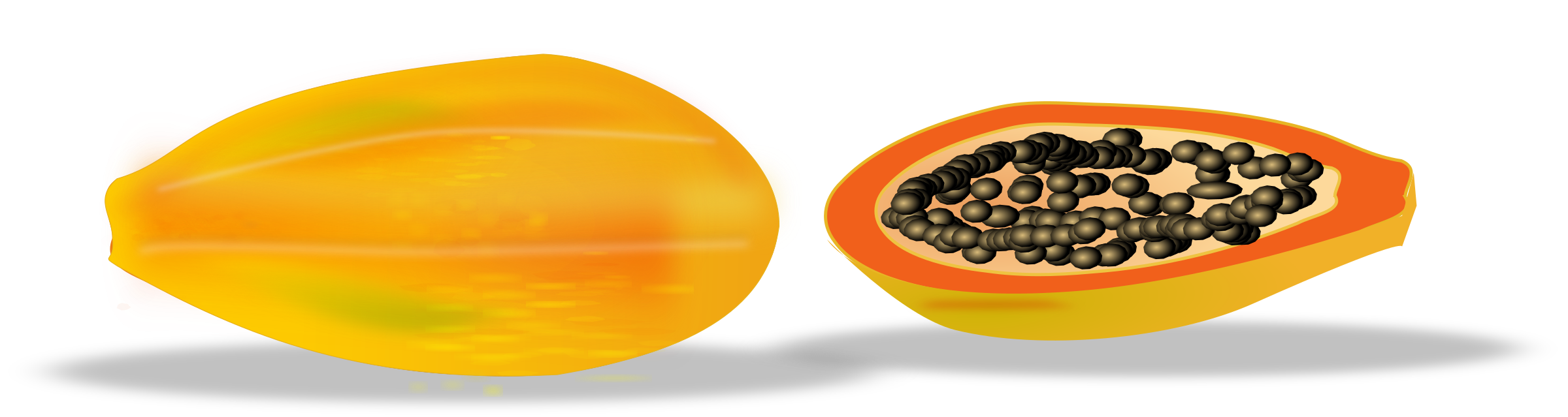 Yellow clipart papaya By sliced papaya Clipart netalloy