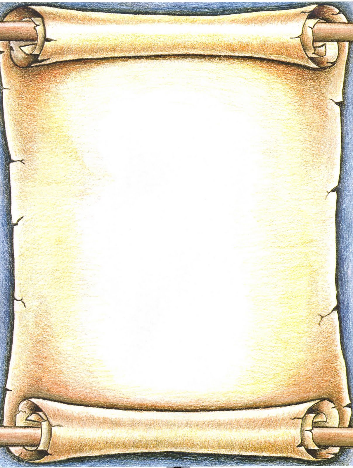Drawn scroll paper border Scroll Ancient Scroll Download Clipart