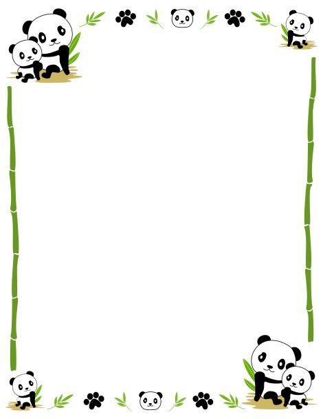 Panda clipart frame #1