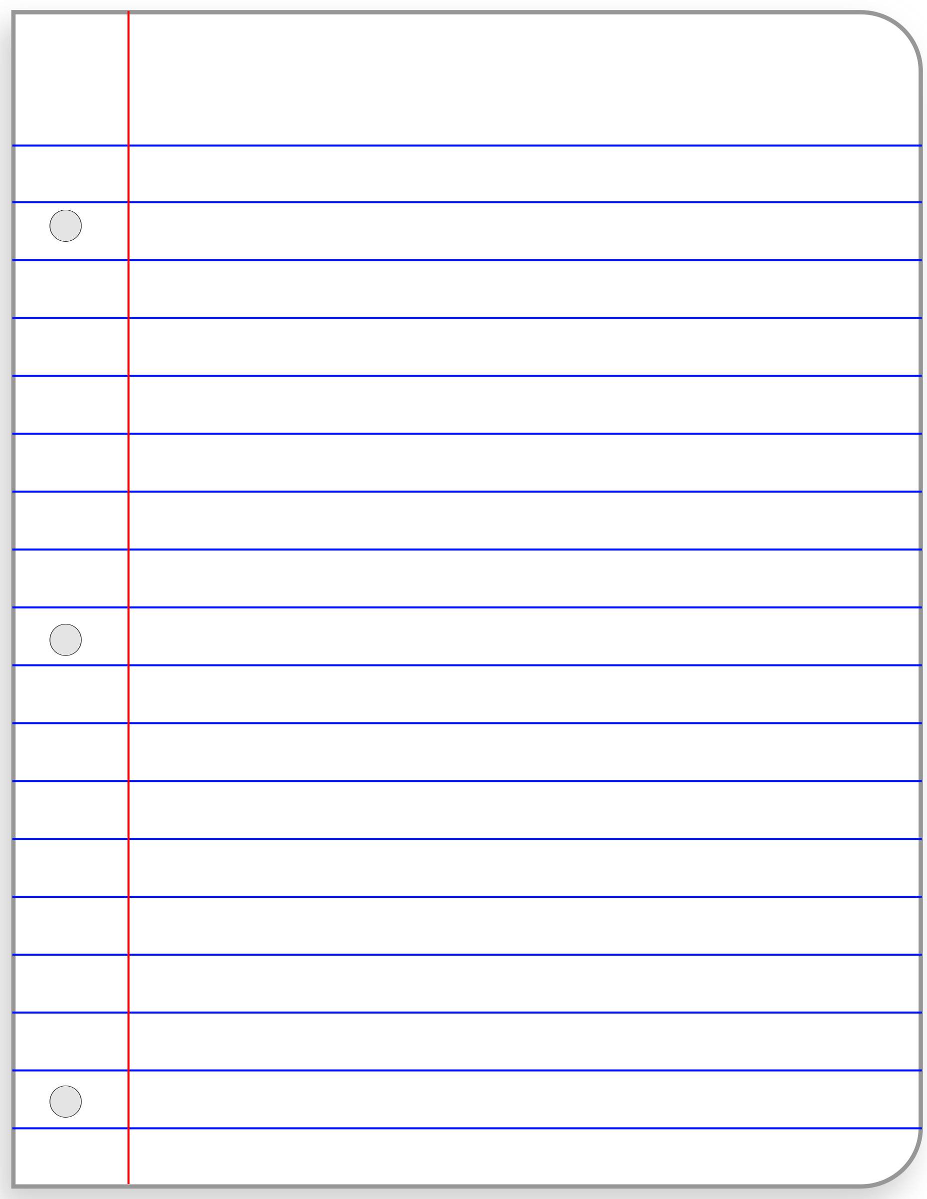 Paper clipart college ruled Paper paper ruled college Writing