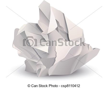 Paper clipart crumple Search paper Vector of Crumpled