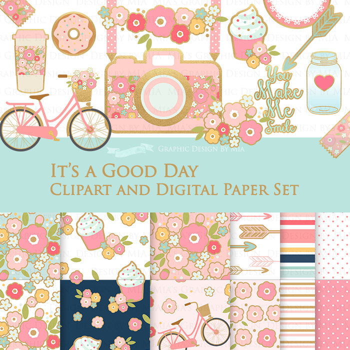Paper clipart diary Art It's Digital a Set