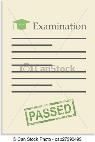 Paper clipart exam paper Of Examination  paper stamp