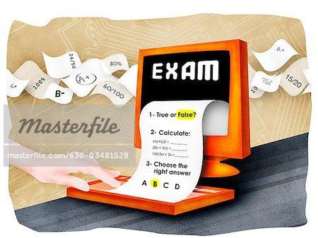 Paper clipart exam paper Paper Photo Premium  with