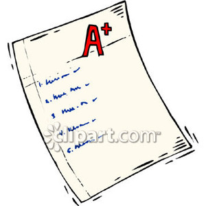 Paper clipart exam paper Grade of  Image of