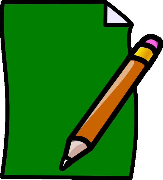 Paper clipart green pencil Com  Download Clker this