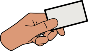 Paper clipart hand holding Art at Card Clker