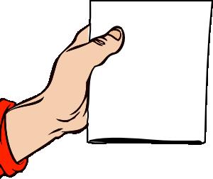 Paper clipart hand holding Holding clip Art art vector