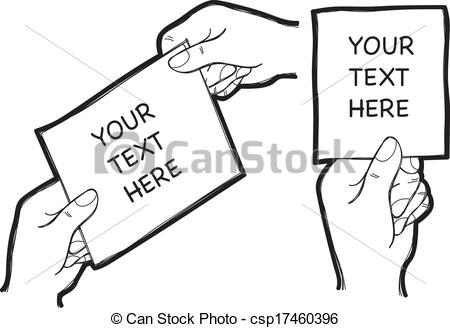 Paper clipart hand holding Vectors Clip doodle  Search