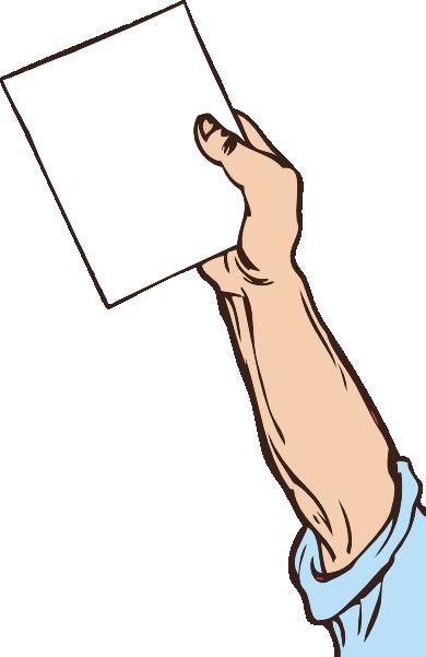 Paper clipart hand holding Paper art Hand online clip