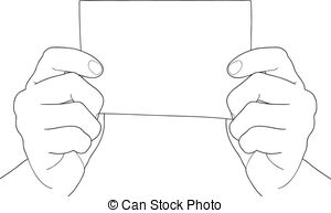 Paper clipart hand holding Of Clipart  Hand vector