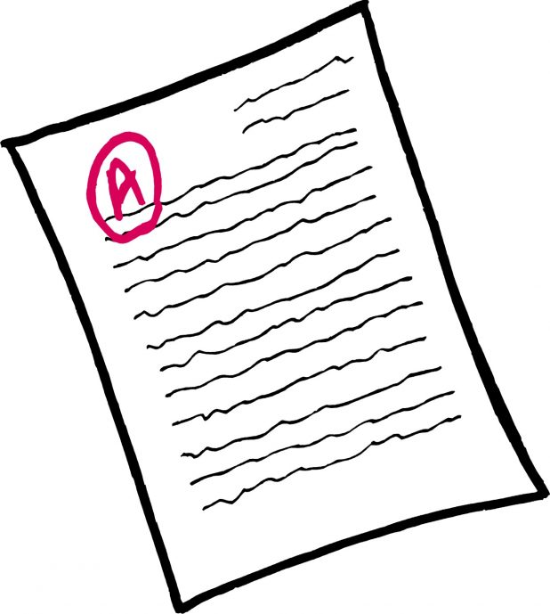 Paper clipart homework paper Letter Graded Clipart Tags Ab