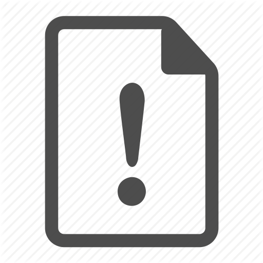 Paper clipart important document File file icon warning warning