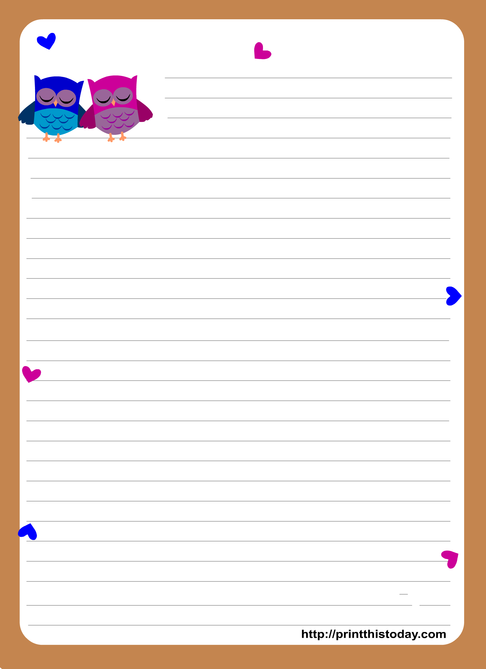 Right clipart letter paper More Stampabili and Free ~