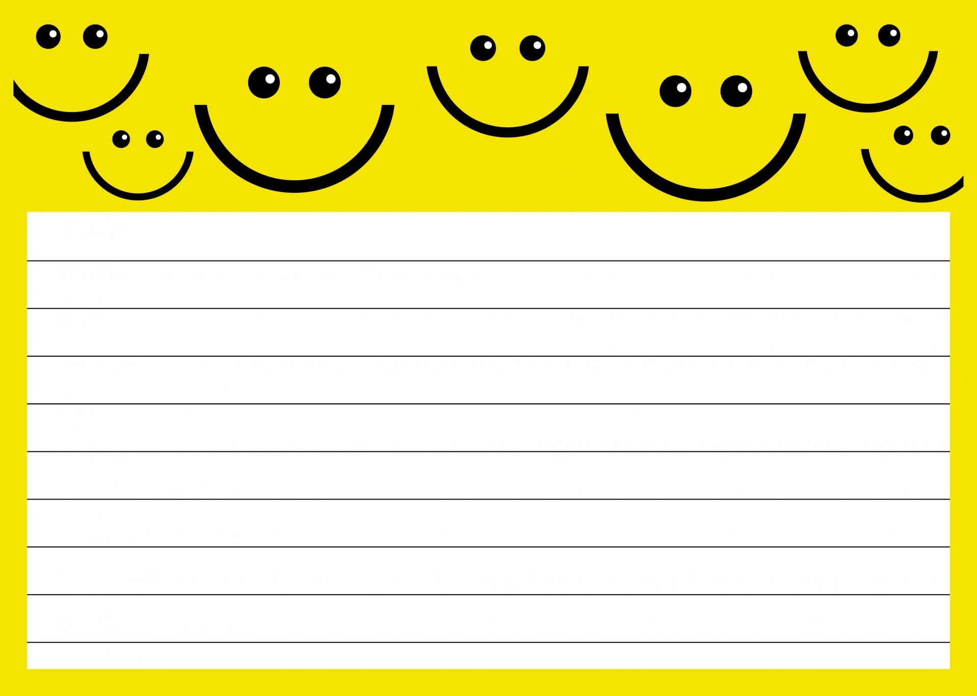 Paper clipart lined paper Clipart Yellow ClipartMe Paper Lined