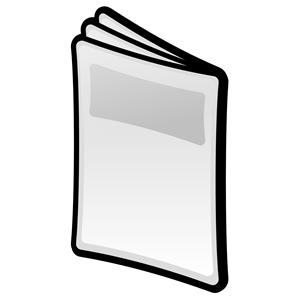 Paper clipart magazine Cartoon_blackborder cliparts download magazine magazine