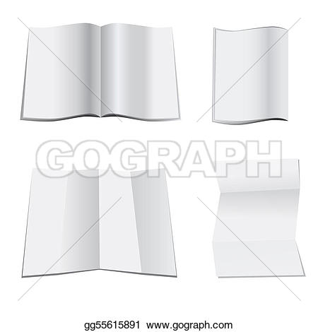 Paper clipart magazine Paper blank of magazine a