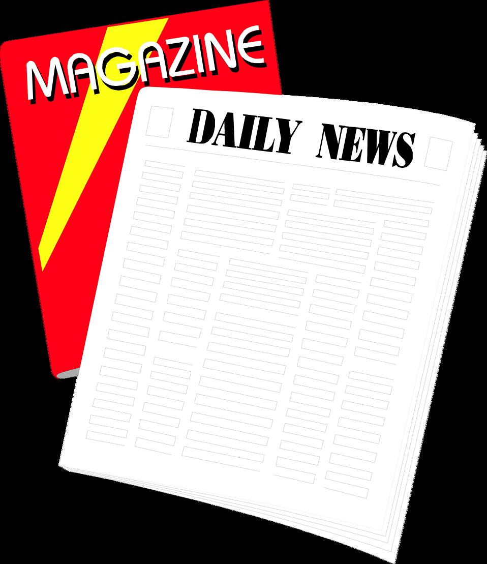 Paper clipart magazine Periodicals newspaper Free Free magazine