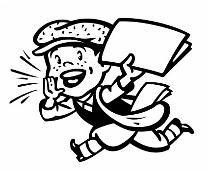 Paper clipart newsletter Image Boy Newsletter February