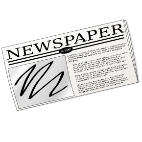 Paper clipart newsletter Others Free Cliparts and Art