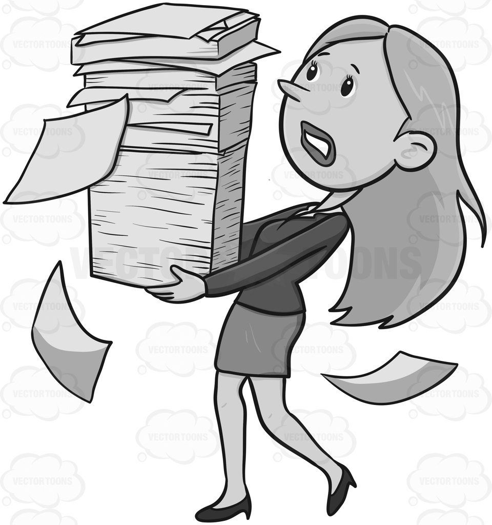 Paper clipart paperwork Of  Woman Clipart A