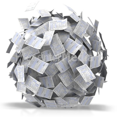 Paper clipart paperwork And Clipart Great ID# Ball