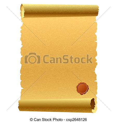 Paper clipart papyrus A of  Vector csp2648126