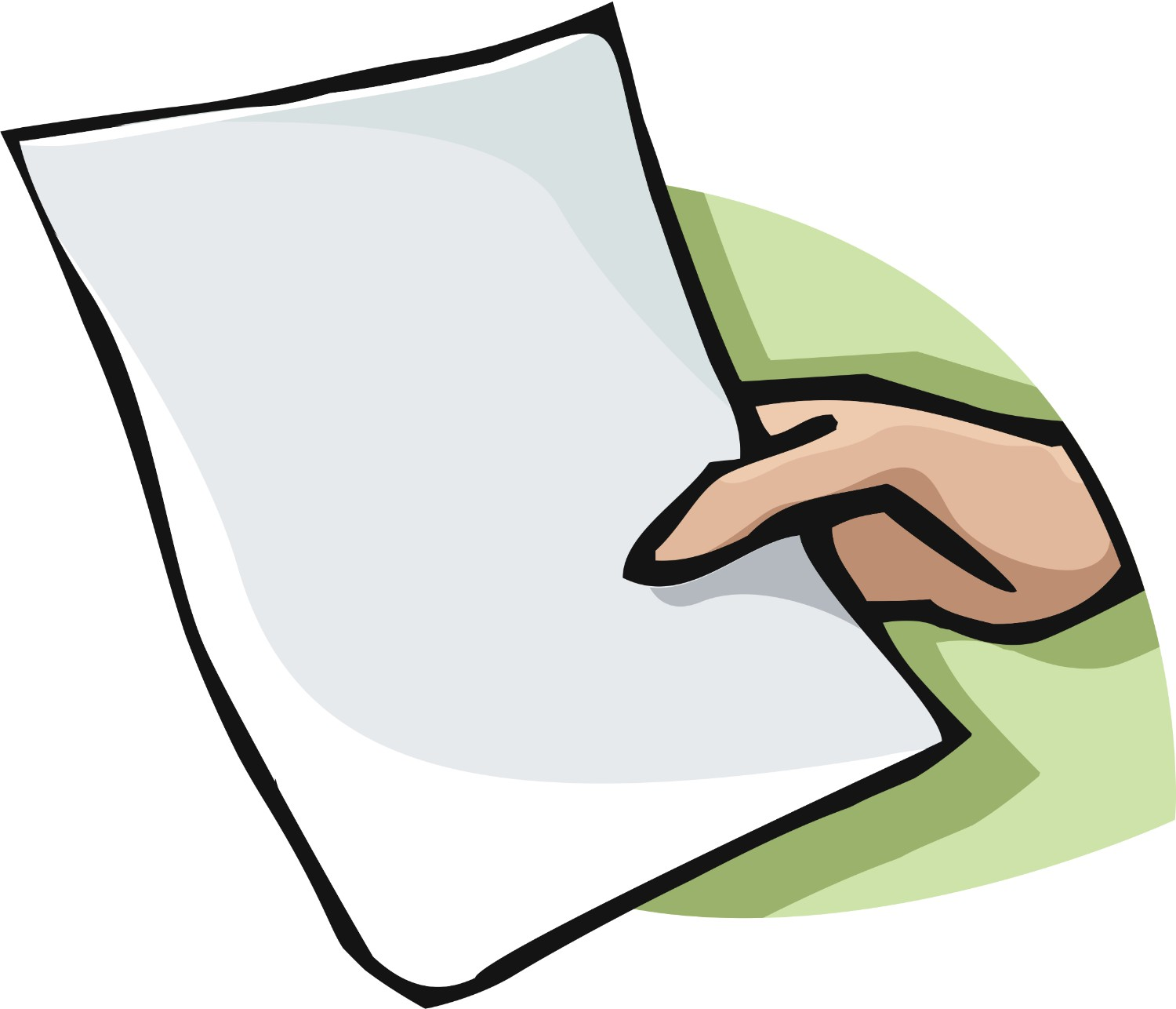 Paper clipart passer Hand Amazing Papers Free Clipart