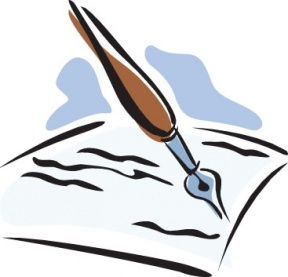 Paper clipart pen paper Writing paper Clipground pen clipart