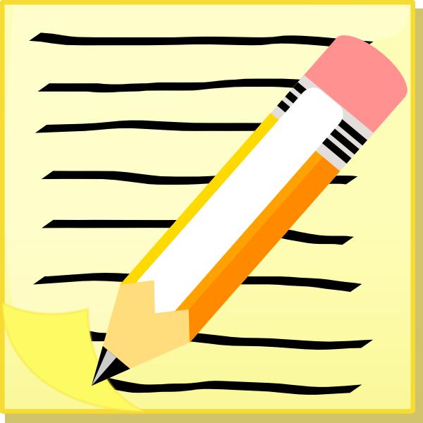 Pen clipart pen paper Com Notepaper image vector online