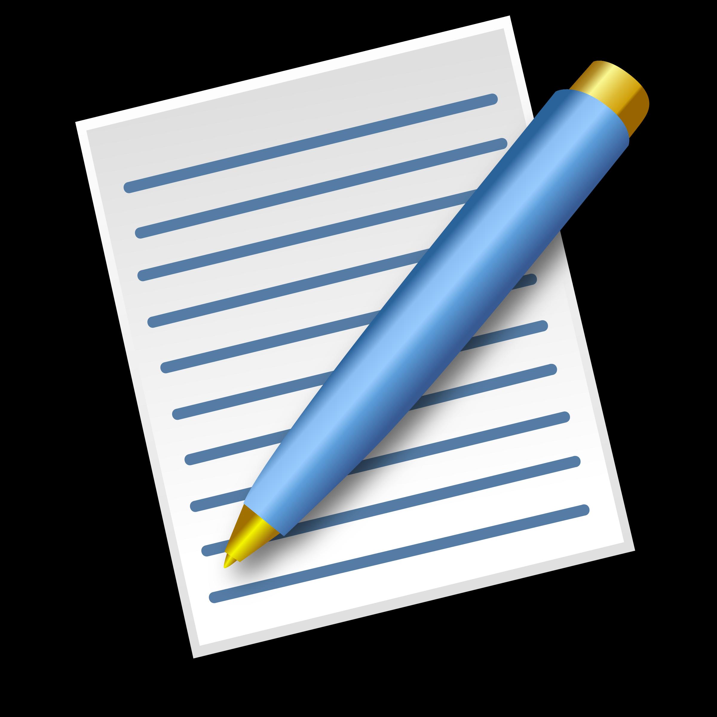Pen clipart pen paper Pen pen Paper with Paper