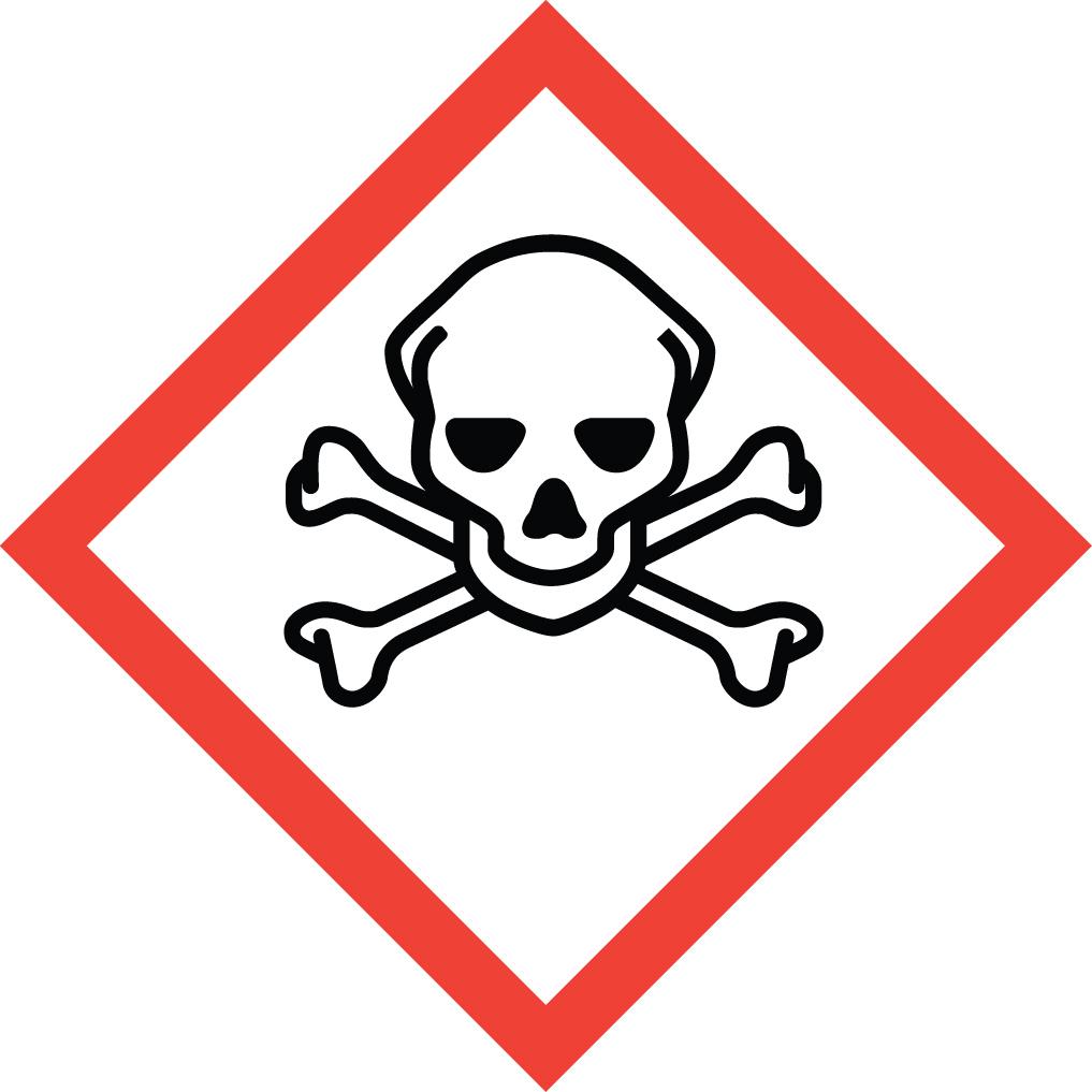 Paper clipart pictogram Hazard Safety Health Crossbones