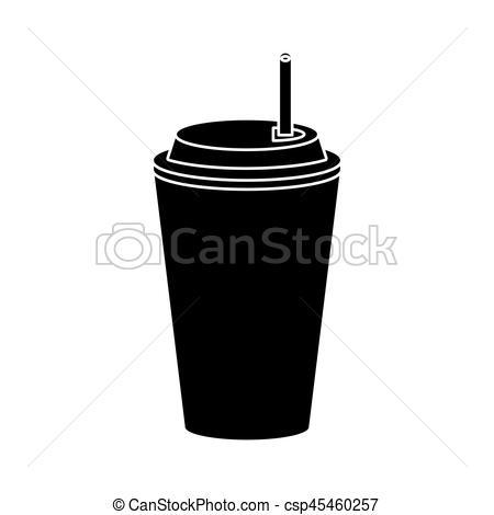 Paper clipart pictogram Vector soda soda straw Vector
