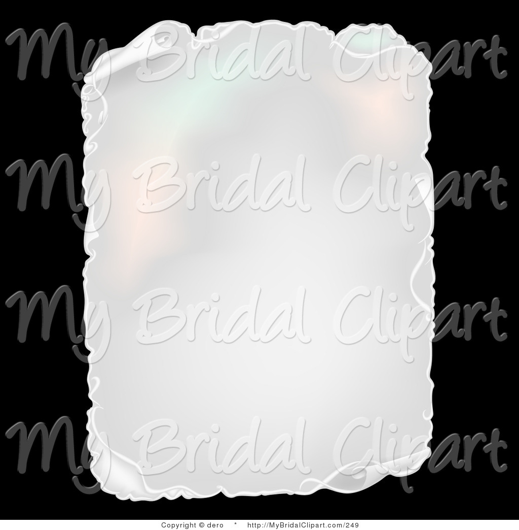 Paper clipart teared With White Curling Bridal Aged