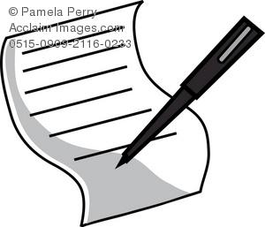 Paper clipart piece paper Paper a Pen Pen a